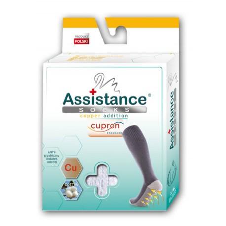 Wola  Assistance socks Podkolanówki Cupron z cząsteczkami miedzi