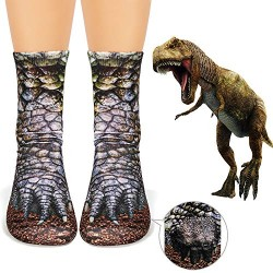 Ankle Socks Photo Print Dinosaur