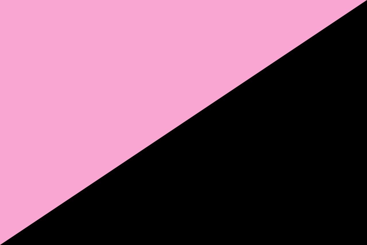 черный с розовым